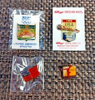 1992 USA Olympics Team Lapel Pins Lot (4) New in Wrappers Souvenirs