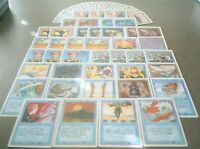 MTG Magic ALL REVISED BLUE DECK Control Magic Glasses of Urza Counterspell
