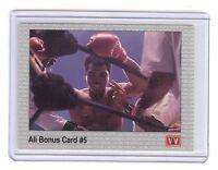 MUHAMMAD ALI  Boxing 1991 AW Sports Card #36 - Bonus Card #5