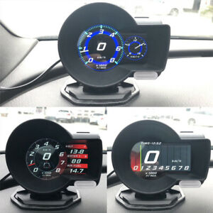 Car Dash Board OBD2 Head up Speedometers Multi Gauges Digital Voltage Tachometer