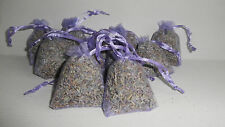 12 Small Red Organza Bags Filled With Dried Lavender Flowers