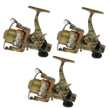 3 x NGT Mimetico Taglia 60 Runner Carpa Pesca Con Mulinello con bobina di ricambio Linea & Cuscinetto 3