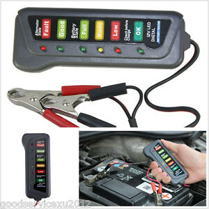 Mini Portable Car 12V Battery Tester Condition Kit With 6LED Digital Indication