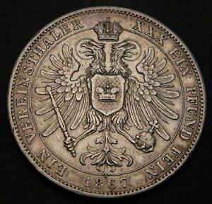 SCHWARZBURG RUDOLSTADT 1 Thaler 1867 - Silver - Friedrich Günther - VF - 692