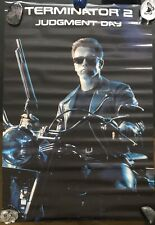 Official TERMINATOR 2 Judgement Day Vintage Retro Poster ATHENA rare Arnold Bike