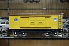 Lionel 214 Box Car Yellow & Brown with Nickel Trim in Excellent Condition
