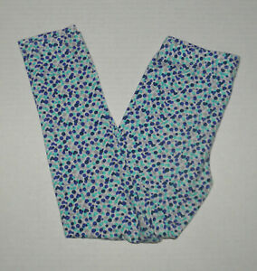 GYMBOREE BACK TO BLOOM BLUE DOT HEART LEGGINGS GIRLS 7 8 COTTON