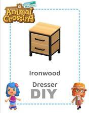 Animal crossing new horizons DIY Ironwood Dresser + Cutting Board Recipes ✔️📃