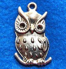 5Pcs. Tibetan Silver Large OWL Bird  Charms Pendants Earring Drops Finding BD69