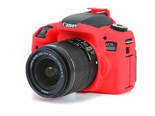 Camera silicone cover for Canon EOS 760D(EOS REBEL T6S)  Red