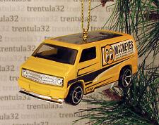 1977 DODGE VAN '77 Mooneyes CHRISTMAS TREE ORNAMENT Yellow/Black XMAS