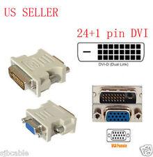24+1 pin Dvi-D Male Adapter to 15 Pin Vga Female Video Converter lots wholesale