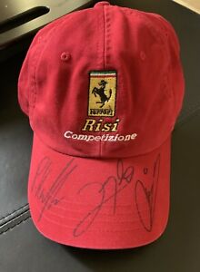 Ferrari Risi Autographed Hat