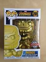 Funko POP Vinyl Marvel Avengers Infinity War Thanos 289 Gold Yellow Chrome NEW