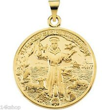 14K Solid GOLD XLarge St  St. Saint Francis of Assisi  Animal Lovers 8+ grams