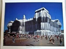 Christo & Jean Claude Wrapped Reichstag Berlin Poster Offset Lithograph 14x11