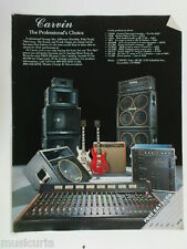 retro magazine advert 1982 CARVIN