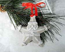 SANTA STAR  BEACH SAND TROPICAL CHRISTMAS ORNAMENT
