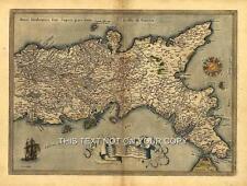 Neapolitan Naples Italy Sardinia Sicily & Corsica Reproduction Antique Old Map