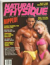 NATURAL PHYSIQUE bodybuilding muscle magazine/Peter +Cathy Nielsen w/poster 2-92