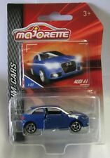 Majorette Model Car metal DieCast Premium Cars Audi A1 blue 1/58