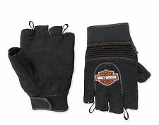Authentic Harley-Davidson Willie G Fingerless Mesh Motorcycle Gloves Sz M Medium