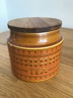 Vintage Hornsea Saffron Ceramic Tea Storage Jar Retro John Clappison 1970s