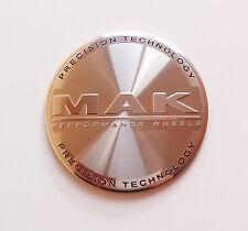 1 x MAK TAPPO CENTRALE RUOTA ADESIVO 8020001132 60 mm PRECISION Silver punteggio WEB