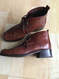 Braune Luxus Designer Lammfell Stiefel Schuhe Boots Bally Leder 36,5 ❤️