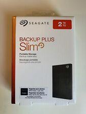 Seagate Backup Plus Slim 2tb Portable Hard Drive USB 3.0 Black PN 100806090