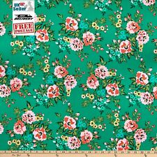 Organic Cotton Fabric, 'Sweet Rose From Wildflower Range ' Cloud9 Cotton Sateen