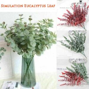 Artificial Branches Eucalyptus Leaf Plants Fake Flower Home Garden Decoration