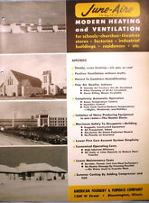 American Foundry & Furnace Co ASBESTOS Rope June-Aire Heater Catalog 1950's