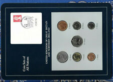 Coin Sets of All Nations Great Britain w/card 1969-1992 UNC 1£ 1988 10 Pence 69