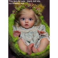 Blank 12'' Reborn Elf Baby Doll Kits Vinyl Head + Full Limbs + Cloth Body +Eyes