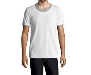 NEUF T-shirt ELEVEN PARIS XL blanc gris double superposition tshirt mode fashion