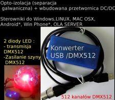INTERFACE USB DMX512 DMX 512 open enttec standard  opto isolation