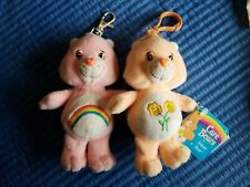 """2 Care Bears 5"""" with Clips!"""