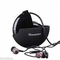 A10 Earphones Super Bass Sound In-Ear Portable Headphones Inline Remote - Black