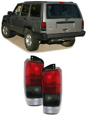 red black color finish tail lights rear lights for Jeep Cherokee XJ 96-01