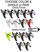 Elite Custom Race Water Bottle Cage Bike Black Red White Asortd Colors Composite