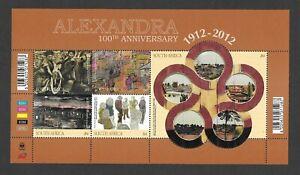 South Africa 2012 Alexandra 100th Anniversary 1912-2012 sheetlet