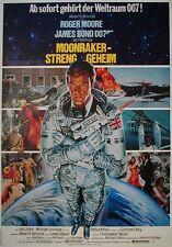 James Bond 007 Roger Moore MOONRAKER EA-Filmplakat A1 gefaltet 1979