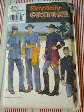 Simplicity Costumes Civil War Soldier Costume Size XS - XL Uncut