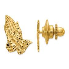Mens 14K Gold Praying Hands  Tie Tac Tack or Ladies Pin