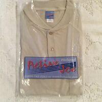 Haband Active Joe Men's Pullover Short Sleeve Shirt M Beige