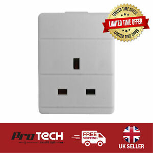 1 Gang 13A White Electrical UK Mains Extension Trailing Socket Single Rewirable