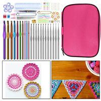 100pcs Crochet Hook Set Aluminium Multi Coloured Needles with Tools for Sewing