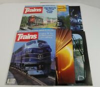 Trains The Magazine Of Railroading Lot Of 6 1991
