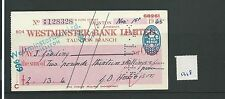 WBC. - ASSEGNO-CH1318-Usato -1945 - Westminster Bank, Taunton
